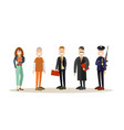set of law court people icons in flat style vector image