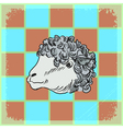 vintage grunge background with sheep vector image