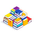 3d stack of books vector image vector image