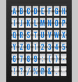 airport mechanical flip board panel font vector image vector image