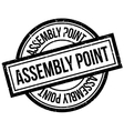 Assembly Point rubber stamp vector image