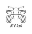 atv bike template vector image vector image