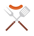 bbq or grill tools icon crossed barbecue fork
