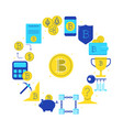 bitcoin digital money round poster in flat style vector image vector image