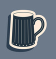 black wooden beer mug icon isolated on grey vector image vector image