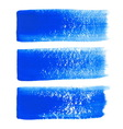 Blue ink brush strokes vector image vector image