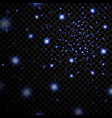 blue stars black night sky on transparent vector image vector image