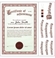 brown certificate Template Vertical Additional vector image vector image