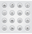 Button Design Business Icons Set vector image vector image