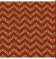 Christmas Seamless chevron pattern Red and gold vector image