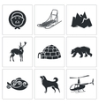 Chukchi and the Far North Icons Set vector image vector image