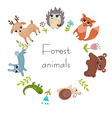 Circle frame with forest animals vector image vector image