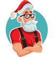 cool handsome santa claus vector image