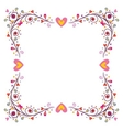 decorative frame with hearts 2 vector image vector image