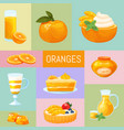 delicious sweets and desserts with orange flavors vector image vector image