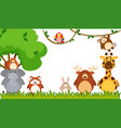 different types of animals in the park vector image