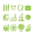 education school symbol collection vector image vector image