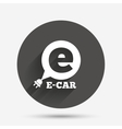 Electric car sign icon Electric vehicle symbol vector image vector image