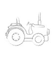 farm tractor isolated icon vector image vector image