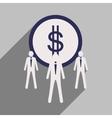 Flat design modern icon Dollar vector image vector image