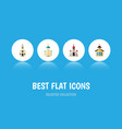 flat icon church set of religious catholic vector image vector image