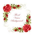 Frame with roses and leaves vector image