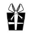 gift box with big ribbon bow icon image vector image