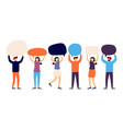 group people talk to each other using bubble vector image vector image