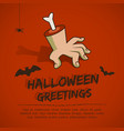 happy halloween template vector image