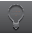 Idea light bulb icon banner template vector image
