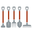 isolated tools for gardening work vector image vector image