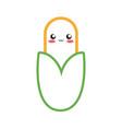 kawaii vegetables design concept vector image