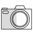 line photographic camera vector image vector image