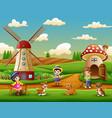 little farmers an activity in the farm vector image vector image