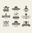 logotypes and badges for restaurant vector image vector image