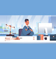 male lawyer sitting at workplace legal law advice vector image vector image