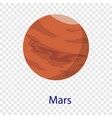 mars planet icon flat style vector image vector image