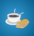 Morning breakfast A cup of coffee and a sandwich vector image