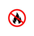 no fire icon vector image