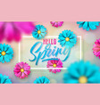 on a spring nature theme vector image vector image