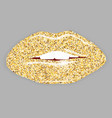 Open Mouth with gold lips vector image vector image