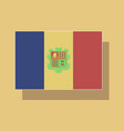 paper sticker on theme flag of andorra vector image vector image