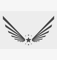 patriotic national american sign wings with stars vector image