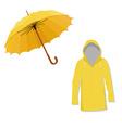 Raincoat and umbrella vector image vector image