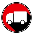 red information icon - white lorry car vector image