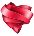 Ribbon twisted in the shape of heart vector image vector image