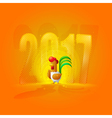 Rooster New Year 2017 Year of the Rooster Figures vector image