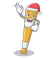 santa baseball bat character cartoon vector image vector image