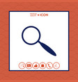 search icon vector image vector image