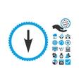 Sharp Down Arrow Flat Icon With Bonus vector image vector image
